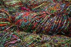пряжа сари silk Стоковые Фото