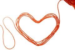 Пряжа сердца Стоковые Фото
