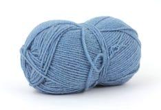 пряжа шерстей бленды голубая Стоковая Фотография