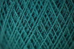 Пряжа Merino в картине текстуры цвета teal Стоковое Фото