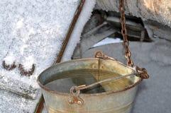 пряжек Колодец зимы стоковое изображение rf