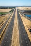 Прямое шоссе в Napa стоковая фотография rf