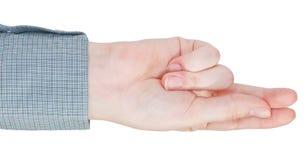 Прямой 2-палец - жест рукой Стоковые Фотографии RF
