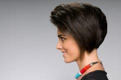Прямой стиль причёсок Стоковое фото RF