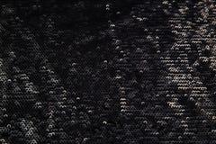 Прямоугольная сияющая черная ткань с sequins Стоковое Фото
