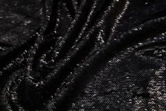 Прямоугольная сияющая черная ткань с sequins Стоковые Изображения RF