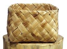 прямоугольное корзины handmade Стоковая Фотография RF