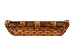 Прямоугольная деревянная корзина Стоковые Фотографии RF