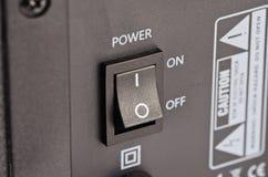 Прямоугольная кнопка в на-положении Стоковые Фотографии RF