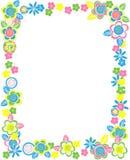 Прямоугольная рамка цветков Стоковое Фото