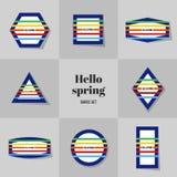 Прямоугольник собрания простой для здравствуйте! карточек весны Стоковые Изображения RF