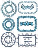 Прямоугольные и круглые рамки Стоковое фото RF