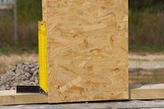 Прямоугольный или установленный квадрат на строительной площадке Стоковые Изображения