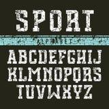 Прямоугольный шрифт serif в стиле коллежа Стоковые Изображения RF
