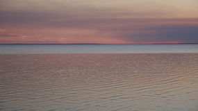 Прямо после залива St Josephs захода солнца Стоковые Фото