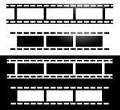 Прямые прокладки фильма Фотография, значок концепции средств массовой информации иллюстрация штока
