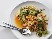 Пряная лапша, тайская еда стоковые фото