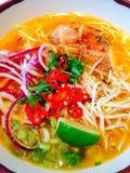 Пряная еда японца лапши цыпленка Стоковые Изображения