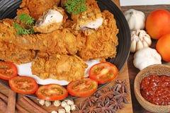 Пряная жареная курица стоковое изображение