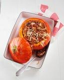 Пряная заполненная тыква осени с сыром Стоковая Фотография