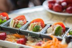 Пряная креветка салата в соусе рыб Стоковые Изображения RF