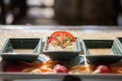 Пряная креветка салата в соусе рыб Стоковое фото RF
