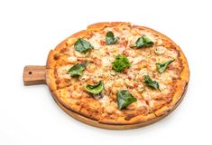 пряная пицца креветки (Тома Yum) стоковое фото rf