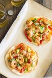 Пряная пицца креветки Стоковое Изображение RF