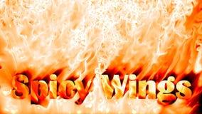 Пряная предпосылка огня крылов, отснятый видеоматериал запаса иллюстрация штока
