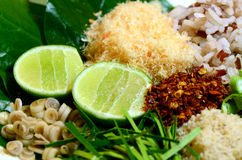 Пряная тайская кухня Khao Ям Стоковые Изображения