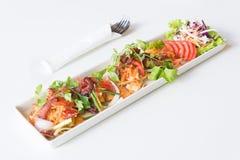 Пряная яичница, бекон и китайская сосиска стоковое изображение rf