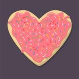 Пряник в форме сердца бесплатная иллюстрация