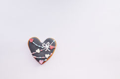 Пряник в форме сердца Стоковые Фото
