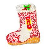 Пряник Кристмас в форме ботинка Стоковое Изображение
