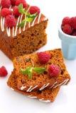 Пряник & x28; мед-cake& x29; с изюминками Стоковая Фотография