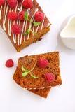 Пряник & x28; мед-cake& x29; с изюминками Стоковое Фото