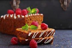 Пряник & x28; мед-cake& x29; с изюминками Стоковые Изображения RF