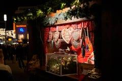 Пряник на немецком рынке рождества Стоковые Изображения