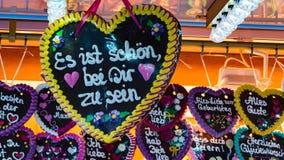 Пряник на фестивале в Бремене в октябре стоковое фото