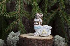 Пряник рождества в форме зайца Стоковое фото RF