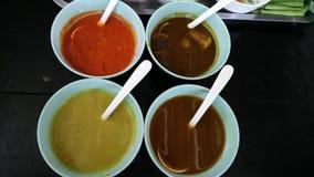 Пряное noodel в еде улицы Таиланда Стоковые Фотографии RF