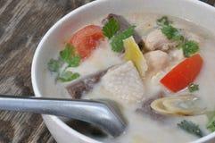 Пряно цыпленк-curry в молоке кокоса стоковое фото