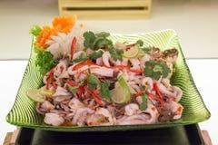 Пряные морепродукты и овощ смешивания Стоковое Фото