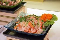 Пряные морепродукты и овощ смешивания Стоковые Изображения