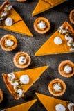 Пряные пирог тыквы и tartlets Стоковые Изображения RF