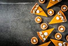 Пряные пирог тыквы и tartlets Стоковые Изображения