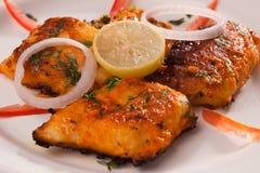 Пряные рыбы Tikka от Индии Стоковые Фотографии RF