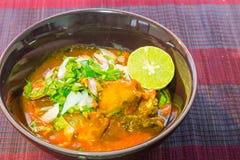 Пряные сардины в рыбах томатного соуса законсервированных Стоковые Изображения