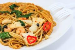 Пряные спагетти Стоковая Фотография