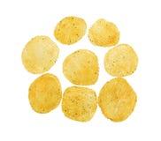 Пряные хрустящие корочки картошки Стоковые Изображения